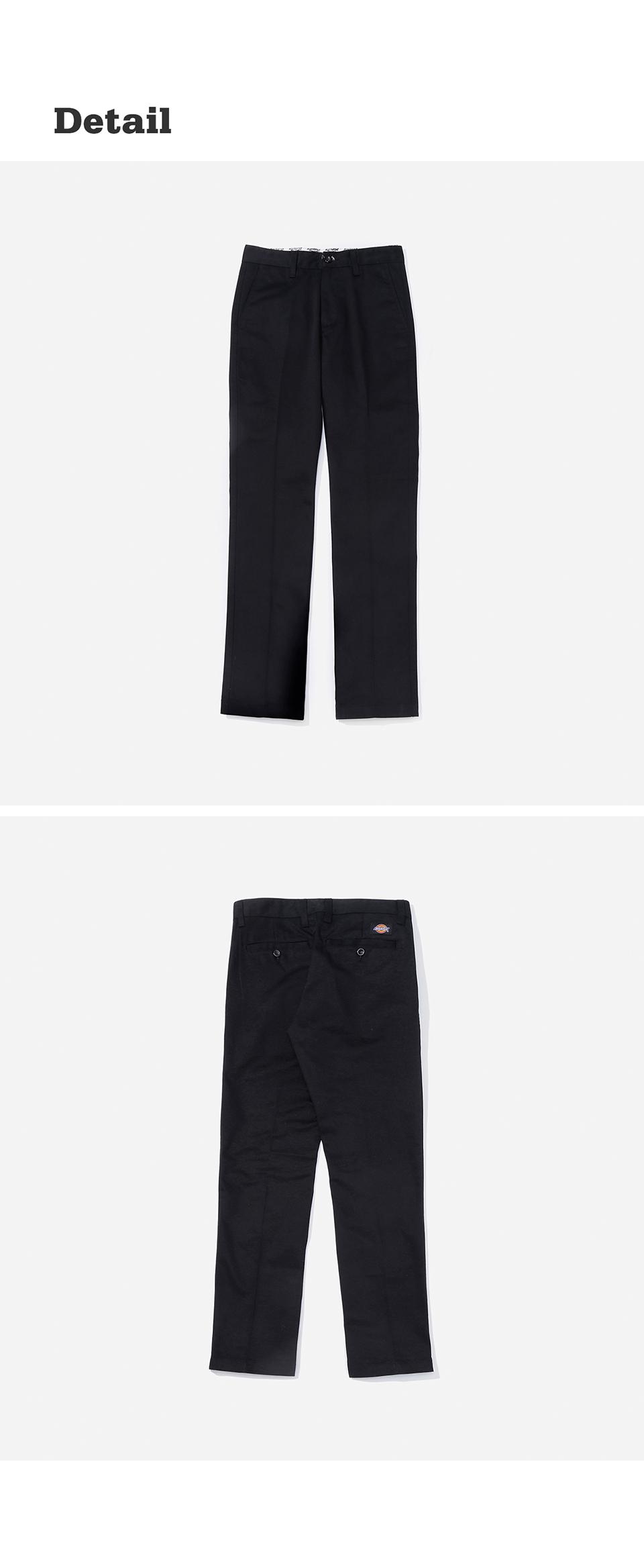 디키즈(DICKIES) 컬러 초이스 슬림 코튼 팬츠 BLACK [YDSH5UPCP876-FBK]