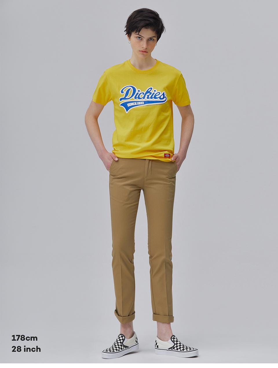 디키즈(DICKIES) 컬러 초이스 슬림 코튼 팬츠 F BEIGE [YDSH5UPCP876-FTN]
